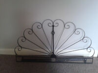Ornate wrought iron style bed headboard / bed head