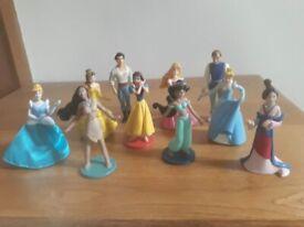 Plastic Disney figures