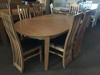 Brand new *** extendable dining table and 6 chairs--ONLY £480