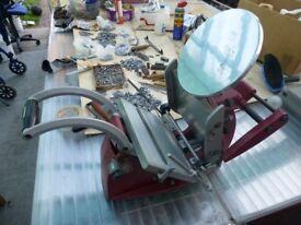 Adana 8x5 eight five letterpress printing press + loads accessories