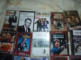 DVDS X 50, JAMES BOND, JOHN WAYNE, CLINT EASTWOOD ETC