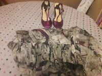 Ladies size 8 dress and matching sandals size 5