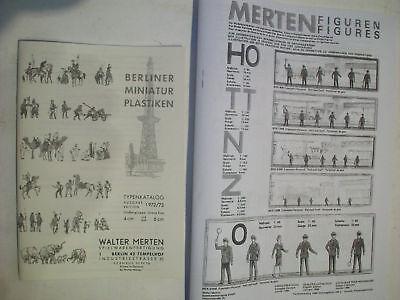 2 Merten Kataloge ND für Kunststoff Figuren Ritter Wildwest Soldaten Eisenbahn