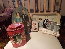 Various queen Elizabeth memorabilia