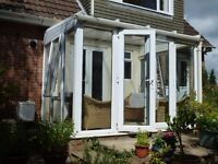 Conservatory, White UPVC lean to. 3.15m x 2.4m