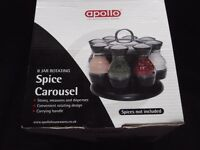 Apollo - 8 Jar Rotating Spice Carousel - NEW/BOXED