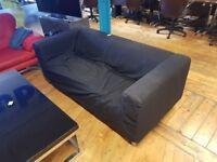 2 x Black IKEA sofas