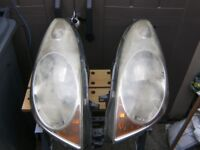 2 NISSAN NOTE *06* n/s and o/s head light units