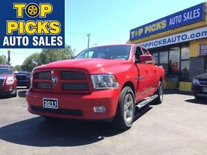2011 Dodge Ram 1500 SPORT CREW CAB, 20'S , BUCKETS AND CONSOLE,