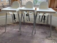 3 x IKEA Antilop highchairs - used but in good condition