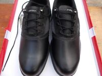 Hi-tec golf shoes, classic leather men's spike golf shoes, water proof