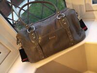 Genuine Leather Elizabeth StockSak | Baby Change Bag | Dove Grey | Excellent Condition