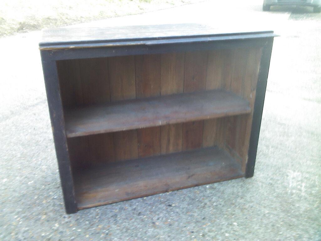 Vintage Rustic Oak Freestanding Bookcase Bookshelf Ideal For