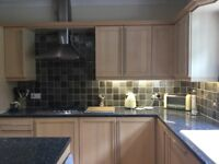 Kitchen and Utility room units, island, sinks, Miele gas hob, and worktops.