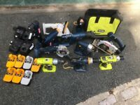 Large selection Ryobi One plus 18V Cordless tools, chargers and batteries