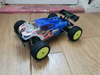 Losi Mini 8ight Truggy. Highly Upgraded. Carbon. RPM. Spares. Proline. Brushless Rc Car Truggy