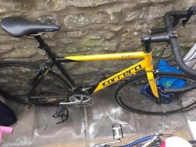 Carrera yellow Racing bike