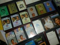 selective 300 audio cassettes indian bollywood songs/instrumentals etc,encyclopidya style cases.