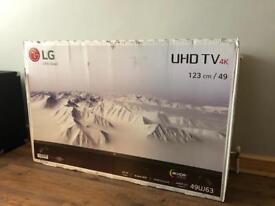"""LG 49UJ630V 49"""" Inch *Broken LCD* New"""