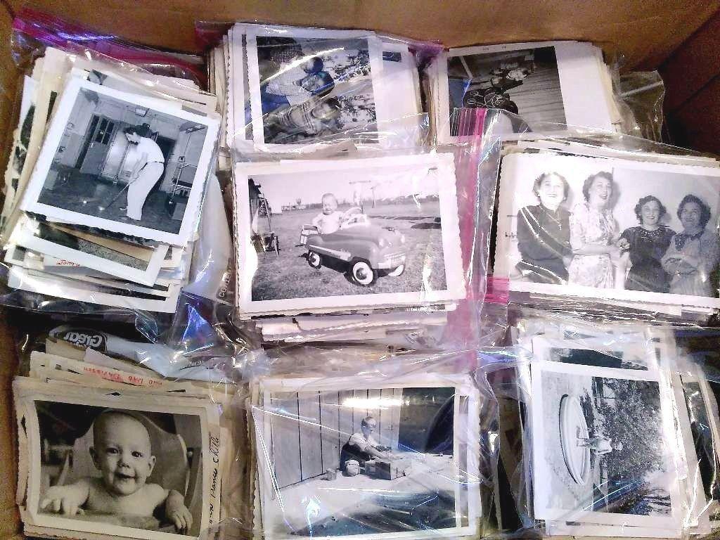 Lot of 100 Original Random B&W Found Old Photos Vintage Snapshots