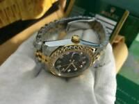 LADIES Rolex Datejust Black Dial diamond bezel Bi-metal