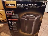Fellowes Powershred 73CI shredder.