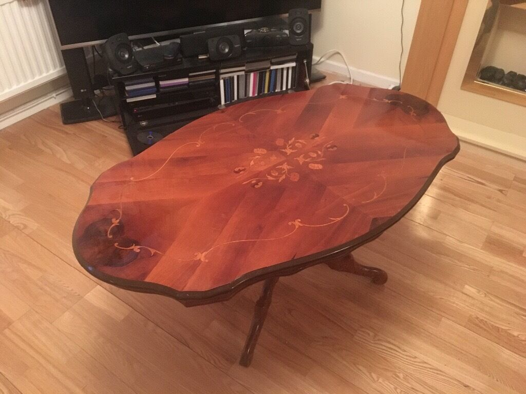 Italian inlaid coffee tablegorgeousin Cardiff City Centre, CardiffGumtree - Very pretty ornate highly polished coffee table bargain £75 collection from cowbridge or delivery possible for fuel costs tel 07375 496554