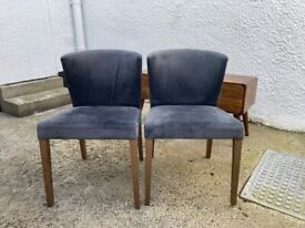 Matching suede dining chairs