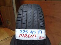 matching set 225 45 17 PIRELLIS 6-7mm TREAD £70 PAIR SUP & FITD £120 SET OF 4(LOADS MORE AV 7-DAYS)