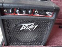 Peavey Micro Bass Amp,Hard case and stand