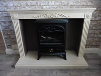 Shabby Chic Vintage Freestanding Fire Surround Only - Electric Fire NOT Included