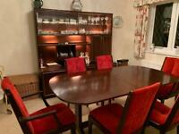 Dining Room Furniture - Table + 6 Chairs + Sideboard + Mirror