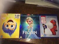 Bundle of 3 Disney / Pixar blu rays