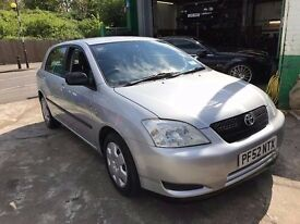 2003 TOYOTA COROLLA 1.4 , 69400 GENUINE MILE, JUST BEEN SERVICED 2 KEYS,
