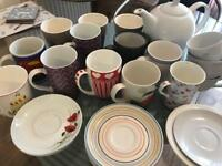 Variety of Mugs / Cups / Saucers / Teapot
