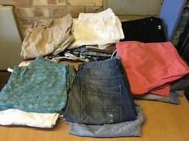 Selection of 28 small mens shorts
