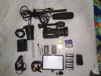 Canon XF105 Definition Professional Camcorder with lots of accessories