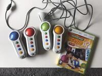 Xbox 360 Scene it game and controllers