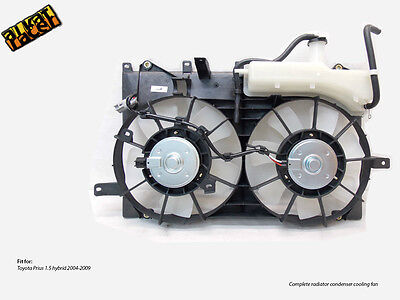 Toyota Prius 1.5 hybrid radiator condenser cooling fan! NEW! Complete!