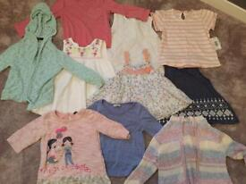 Girls summer top bundle 2-3years