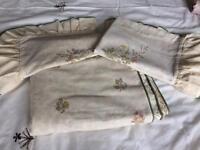 King size floral duvet set with green trim