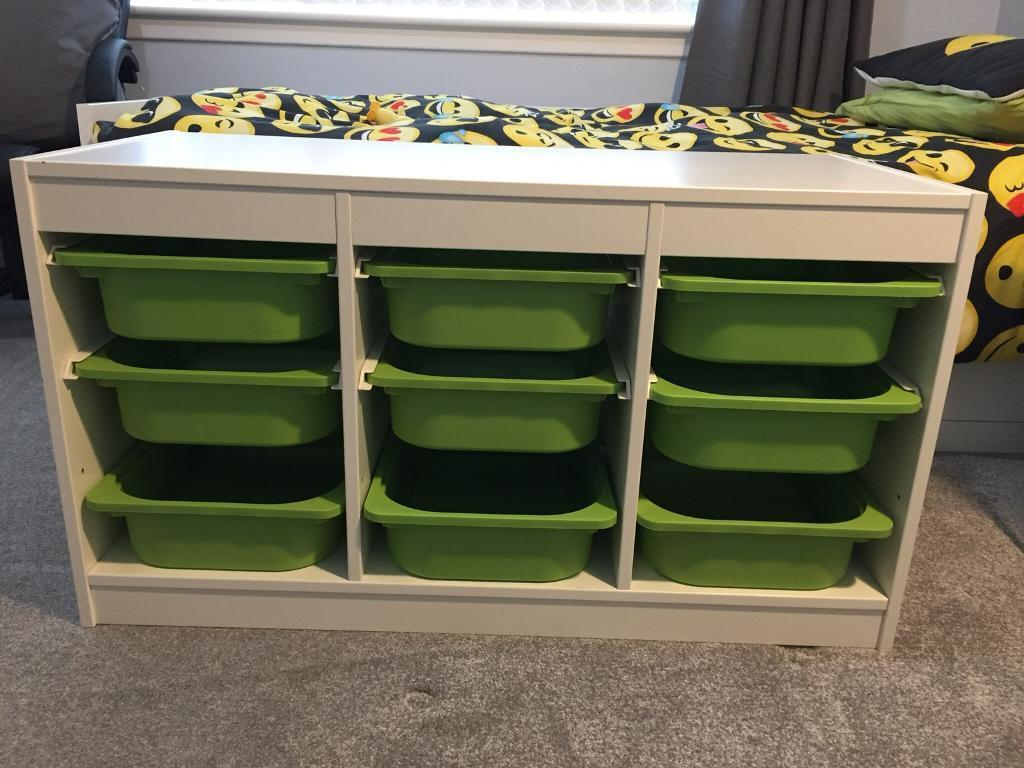 Ikea Trofast Storage Unit With 9 Storage Tubs Childrens Kids Storage In Kingsknowe Edinburgh Gumtree