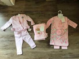 Baby Girl Clothes Bundle Newborn-6 months 70+ items. M&S, NEXT, MOTHERCARE