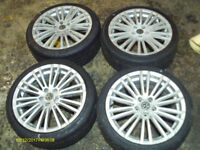 """VW 18"""" R32 ALLOY WHEELS AND TYRES CHEAP"""
