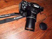 Canon PowerShot SX500 IS 16.0MP Digital Camera - Black, good working condition