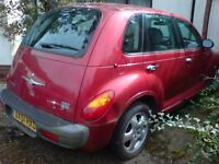 Chrysler Pt Cruiser 2.0 L Petrol Touring Edition Manual Box, Spares Or Repairs, Short MOT