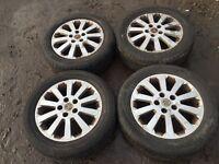 "Vauxhall Astra / Zafira / vectra 16"" alloy wheels - good tyres"