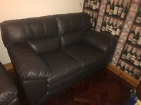 2 x 2 seater brand new black leather sofas for sale