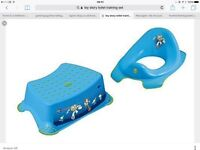 Boys toy story toilet training set with step and toilet seat