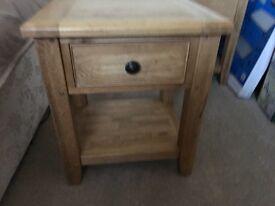 2x Solid Oak Lamp Tables